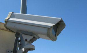 При видеозапис с охранителни камери извън имота