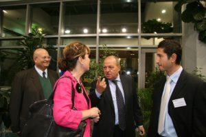 Със заместник председателката на Европейския парламент Даяна Уолис и рифирандера д-р Александър Корнезов при първото обсъждане в ЕС на предизвикателствата на Стокхолмската програма в София през септември 2009 г.
